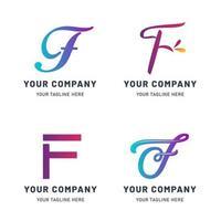 collection de modèle de logo f vecteur