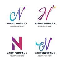 collection de n modèles de logo vecteur