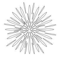Illustration simple du concept d'icône de feu d'artifice pour les vacances de Noël vecteur
