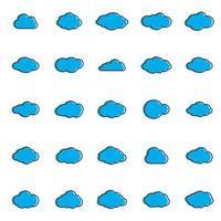 nuages ligne art icon.sky collection illustration plat pour le web. illustration vectorielle vecteur