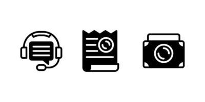 argent, service client, icône de glyphe de facture vecteur