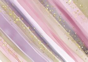 fond abstrait peint à la main avec des paillettes d'or vecteur