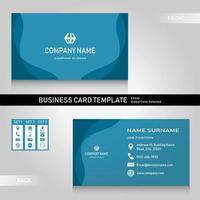 Bundle de modèle de nom et carte de visite moderne bleu avec 3 jeux d'icônes vecteur