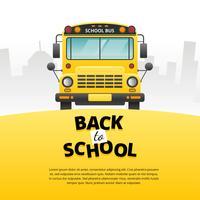 Vecteur de bus scolaire avant