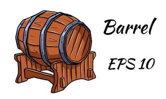 baril pour le vin ou la bière. vecteur