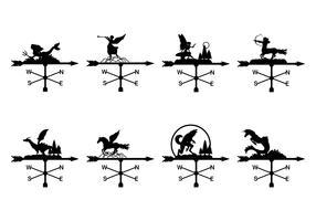 Collection de girouettes vecteur