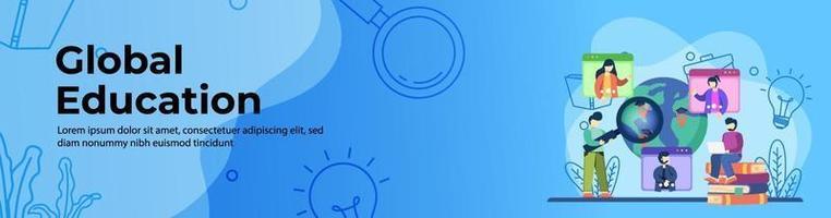 conception de bannière web éducation mondiale vecteur