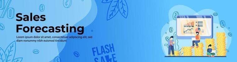 conception de bannière web de prévision des ventes vecteur