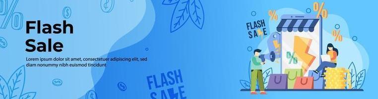 conception de bannière web vente flash vecteur