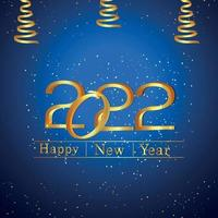 2022 bonne année effet de texte doré sur fond créatif vecteur