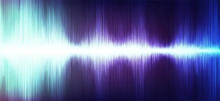 onde sonore numérique moderne avec sur fond ultra violet, technologie et concept d'onde de tremblement de terre, conception pour l'industrie de la musique, vecteur, illustration. vecteur