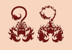 Scorpion tatouage Illustration vecteur