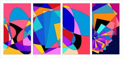 vecteur abstrait coloré fond psychédélique fluide et géométrique