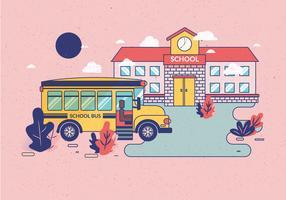 Vecteur de bus scolaire
