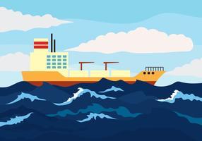 Illustration vectorielle de haute mer vecteur