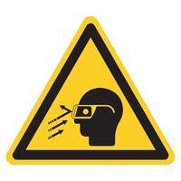 Les débris volants portent le signe de symbole de lunettes de sécurité, illustration vectorielle, isoler sur l'étiquette de fond blanc .eps10 vecteur