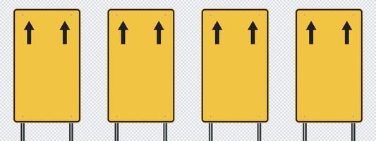 panneau de signalisation jaune, panneaux de signalisation routière isolés sur fond transparent. illustration vectorielle eps 10 vecteur