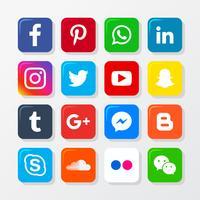 Jeu d'icônes de médias sociaux