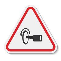 Éteindre le signe de symbole de moteur isoler sur fond blanc, illustration vectorielle eps.10 vecteur