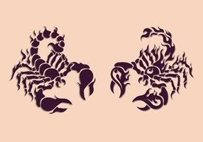 Modèle de tatouage Scorpion vecteur