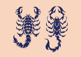 Scorpion Tatouage Tribal vecteur