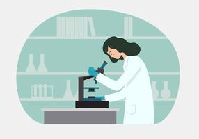 Illustration vectorielle de scientifique féminin vecteur