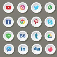 Pack de vecteur de médias sociaux