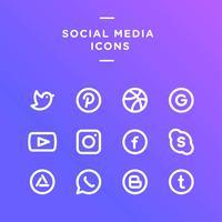 Vecteur d'icônes de médias sociaux