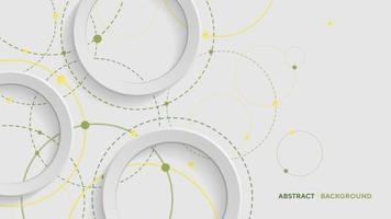 abstrait géométrique avec cercle dégradé vert sur fond blanc vecteur