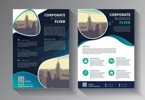 conception de brochure, mise en page moderne de couverture, rapport annuel, affiche, dépliant en a4 avec triangles colorés, formes géométriques pour la technologie, science, marché avec fond clair vecteur