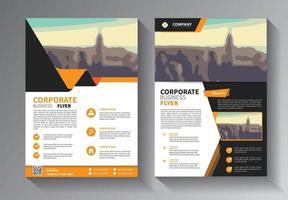 modèle vectoriel abstrait entreprise. conception de brochure, mise en page moderne de couverture, rapport annuel, affiche, dépliant en a4 avec triangles colorés, formes géométriques pour la technologie, science, marché avec fond clair