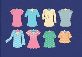 T Shirt Modèle vectoriel