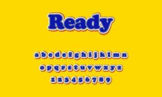 alphabet de texte prêt vecteur