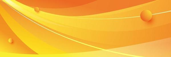 fond abstrait vague orange vecteur