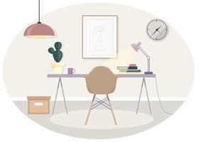 Illustration vectorielle de bureau vecteur