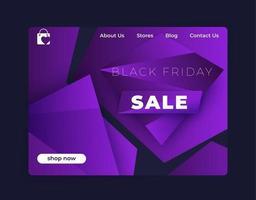 vente vendredi noir, bannière de vecteur pour la conception web
