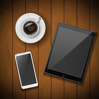 téléphone portable avec tablette vecteur