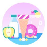 Illustration de conception de crème glacée de vecteur