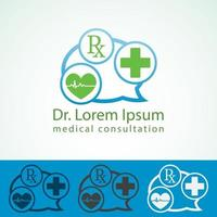 discours buble medic logo 1 vecteur
