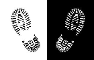 signe de vecteur d & # 39; impression de chaussure
