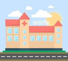 Bâtiment de l'hôpital vecteur