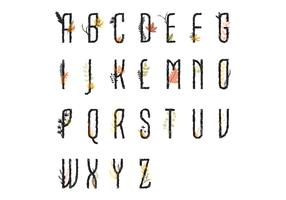 lettres capitales florales vecteur