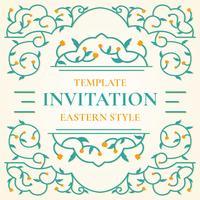 Modèle de modèle d'invitation de style islamique
