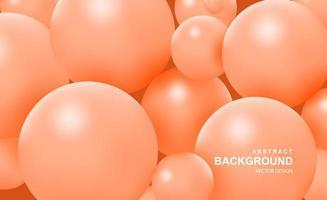 abstrait avec des boules 3d qui tombent vecteur