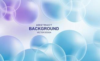 abstrait avec des boules transparentes vecteur
