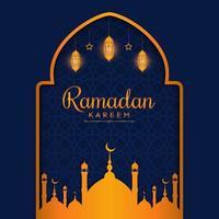 beau modèle de fond ramadan avec couleur dorée vecteur