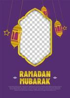bannière de ramadan avec des lanternes vecteur
