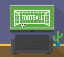 Football à la télévision vecteur