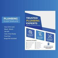 dernier modèle de flyer d'agence de plomberie et d'entrepreneur en plomberie vecteur