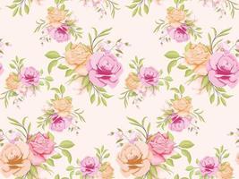 conception de modèle de concept floral modèle sans couture pour textile et papier peint vecteur